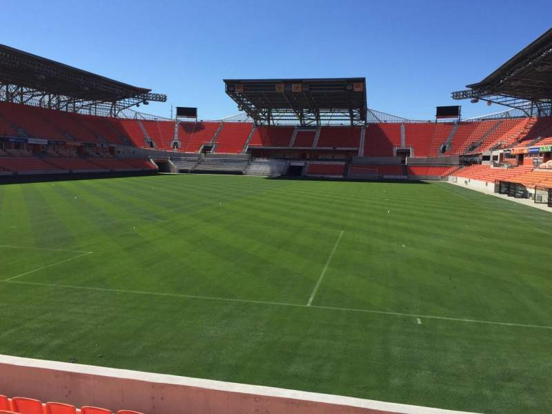 Seating view for BBVA Compass Stadium Section 114 Row F Seat 15