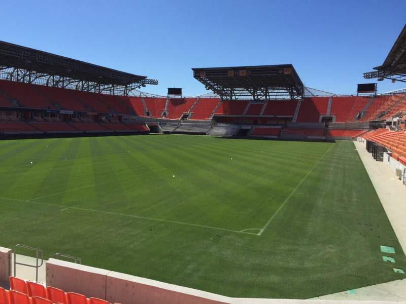 Seating view for BBVA Compass Stadium Section 113 Row F Seat 13