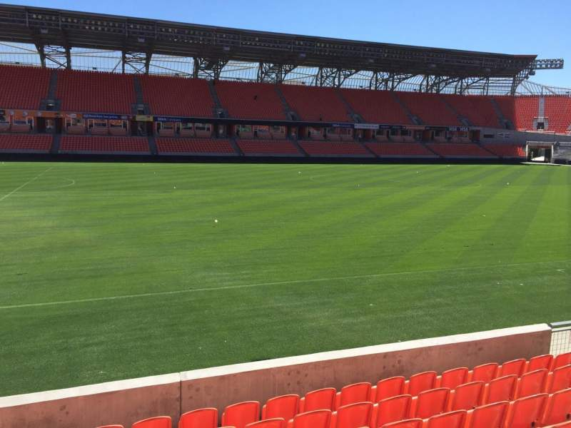 Seating view for BBVA Compass Stadium Section 108 Row F Seat 15