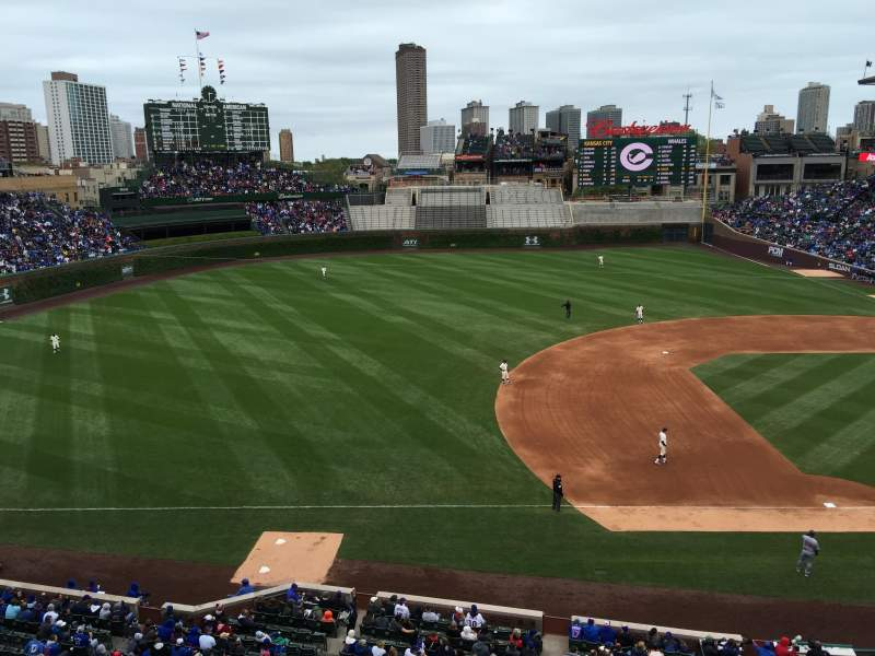 Seating view for Wrigley Field Section 411 Row 1 Seat 104