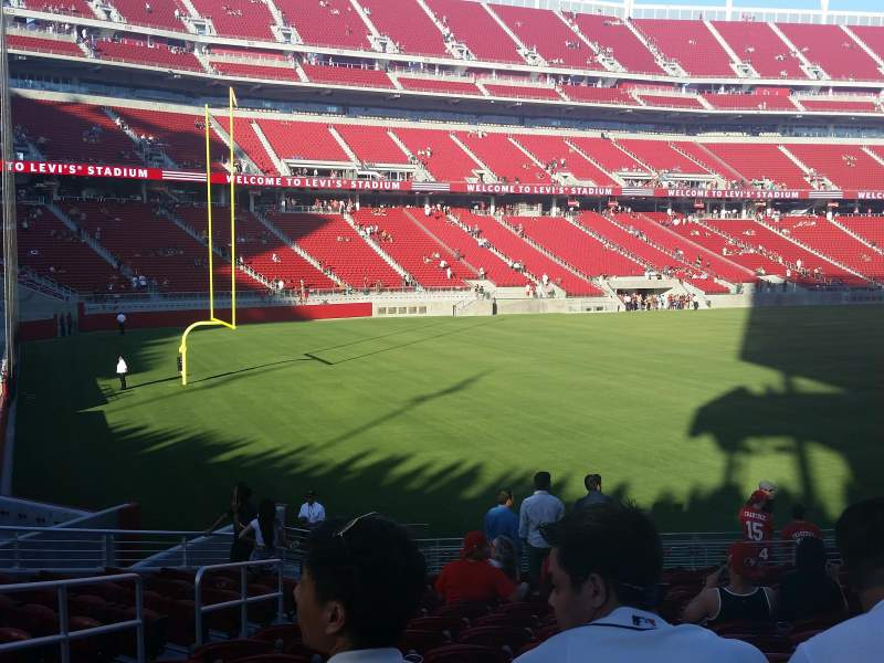 Seating view for Levi's Stadium Section 144 Row 18