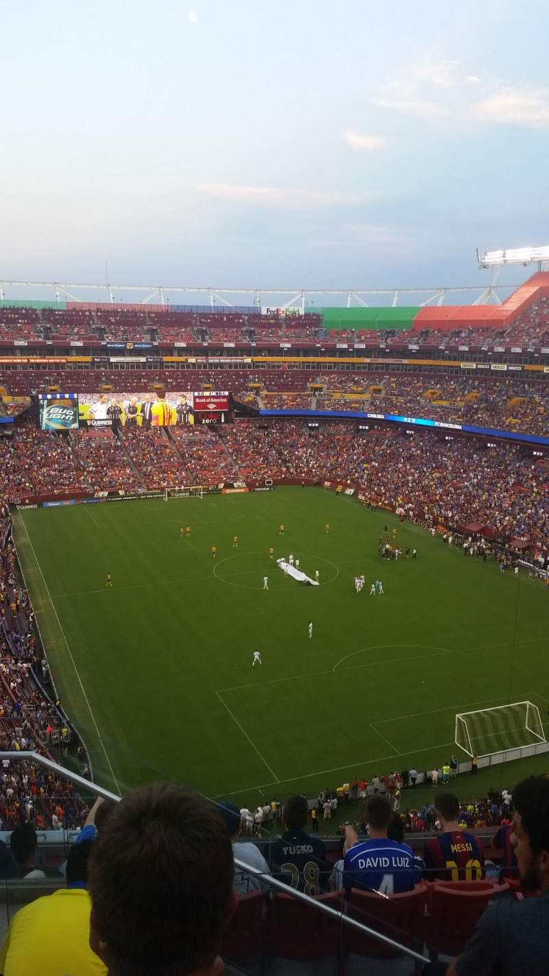 FedEx Field, section: 417, row: 7, seat: 15
