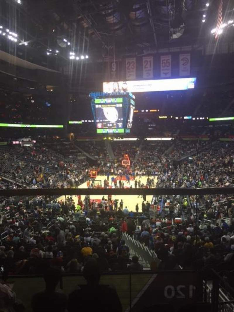 Seating view for Philips Arena Section 218 Row B Seat 1