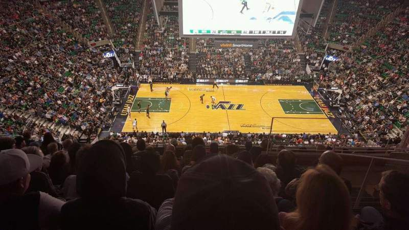 Seating view for Vivint Smart Home Arena Section 133 Row 9 Seat 4,5,6,7
