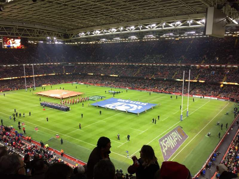 Seating view for Principality Stadium Section U4 Row 13 Seat 19