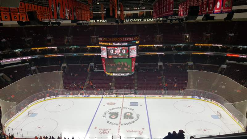 Seating view for Wells Fargo Center Section 201 Row 15 Seat 19