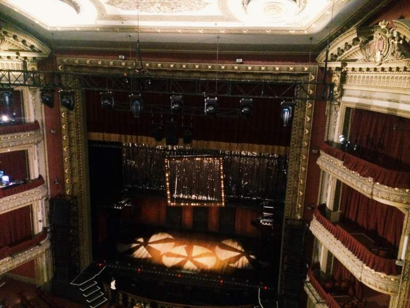 Seating view for PrivateBank Theatre Section Balcony LC Row B