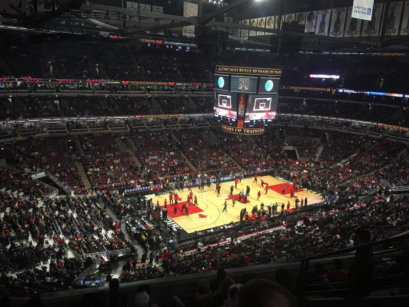 Seating view for United Center Section 321 Row 8 Seat 4