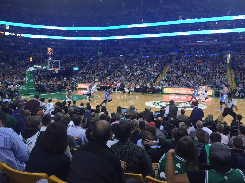 Seating view for TD Garden Section Loge 12 Row 7 Seat 4