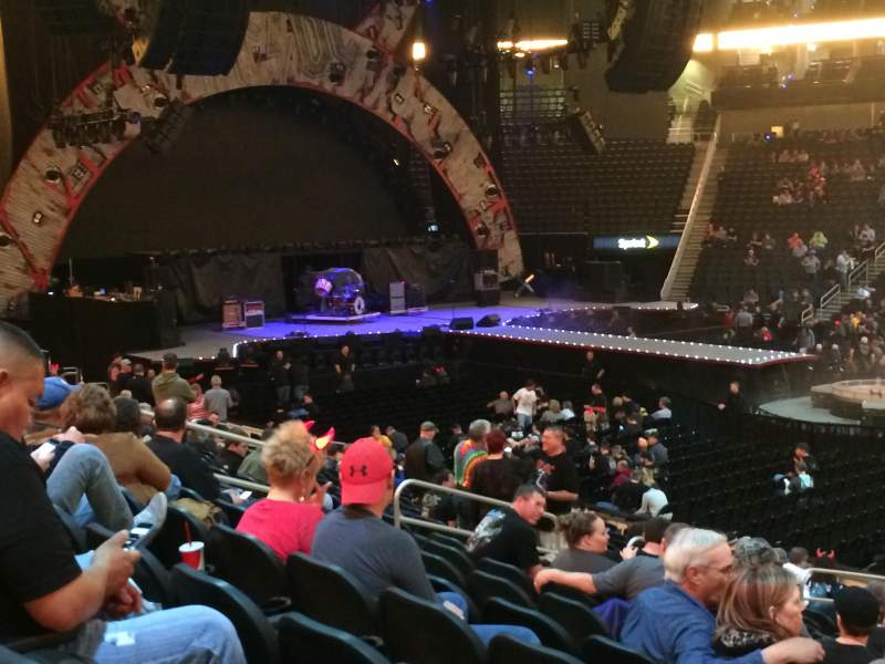 Seating view for Sprint center Section 105 Row 18 Seat 6