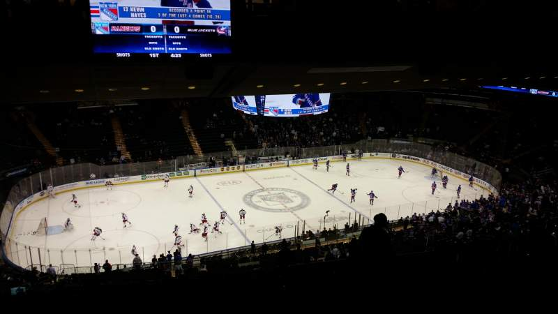 Seating view for Madison Square Garden Section 222 Row 19 Seat 15