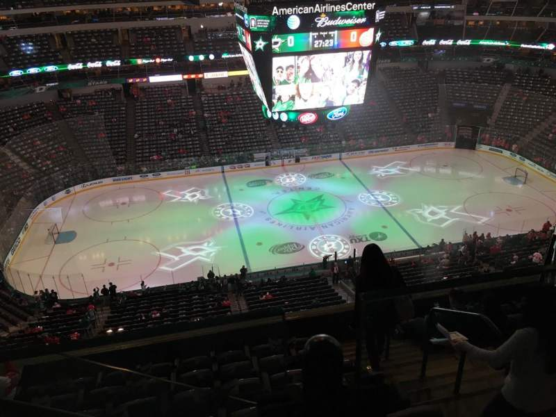 Seating view for American Airlines Center Section 327 Row G Seat 15