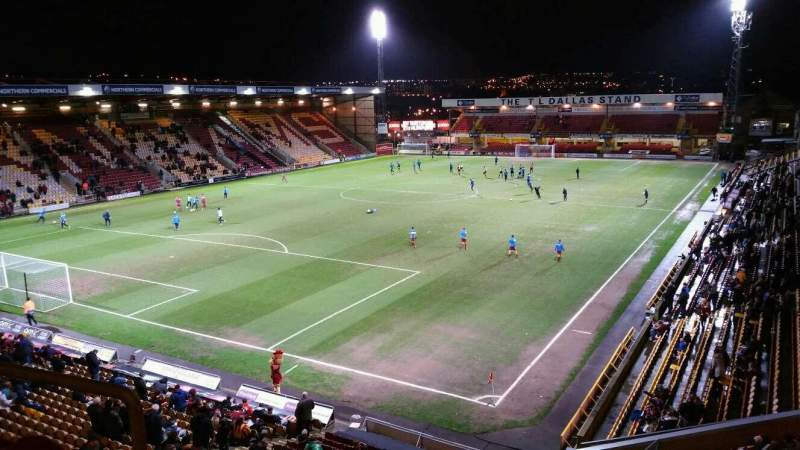 Seating view for Valley Parade Section NW Corner, Block G Row C Seat 99