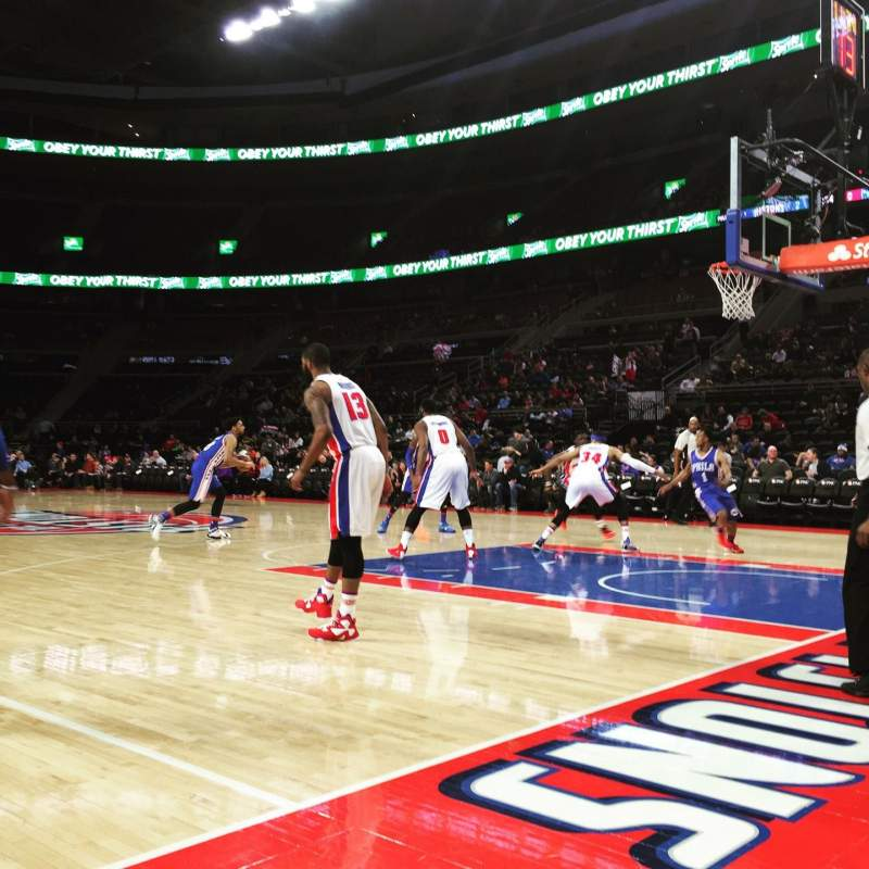 Seating view for The Palace of Auburn Hills Section VIP FF Row 1 Seat 4