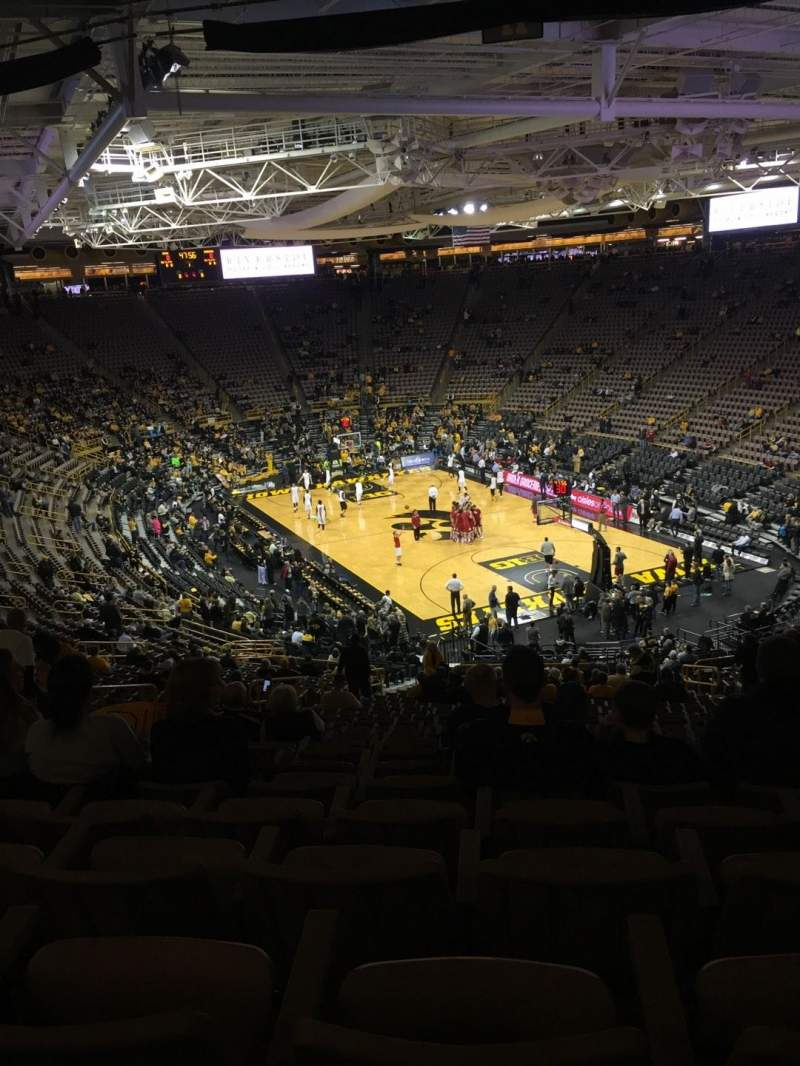 Seating view for Carver-Hawkeye Arena Section JJ Row 40 Seat 9