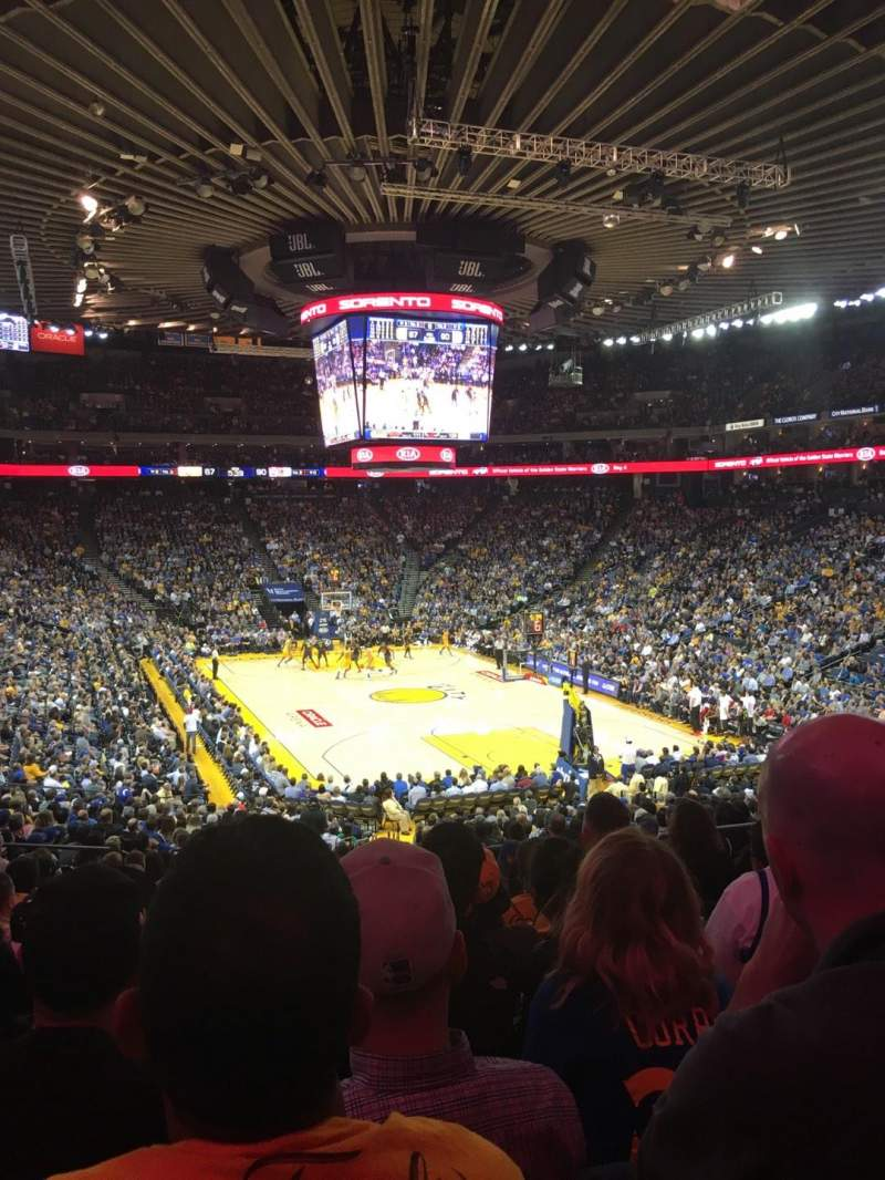 Seating view for Oracle Arena Section 109 Row 25 Seat 8