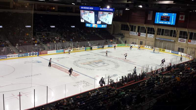 Seating view for Erie Insurance Arena Section 315 Row A Seat 5