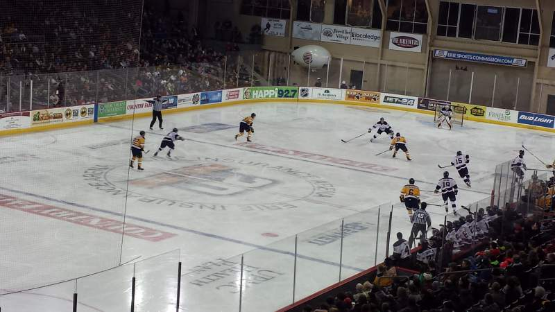 Seating view for Erie Insurance Arena Section 213 Row Z Seat 4
