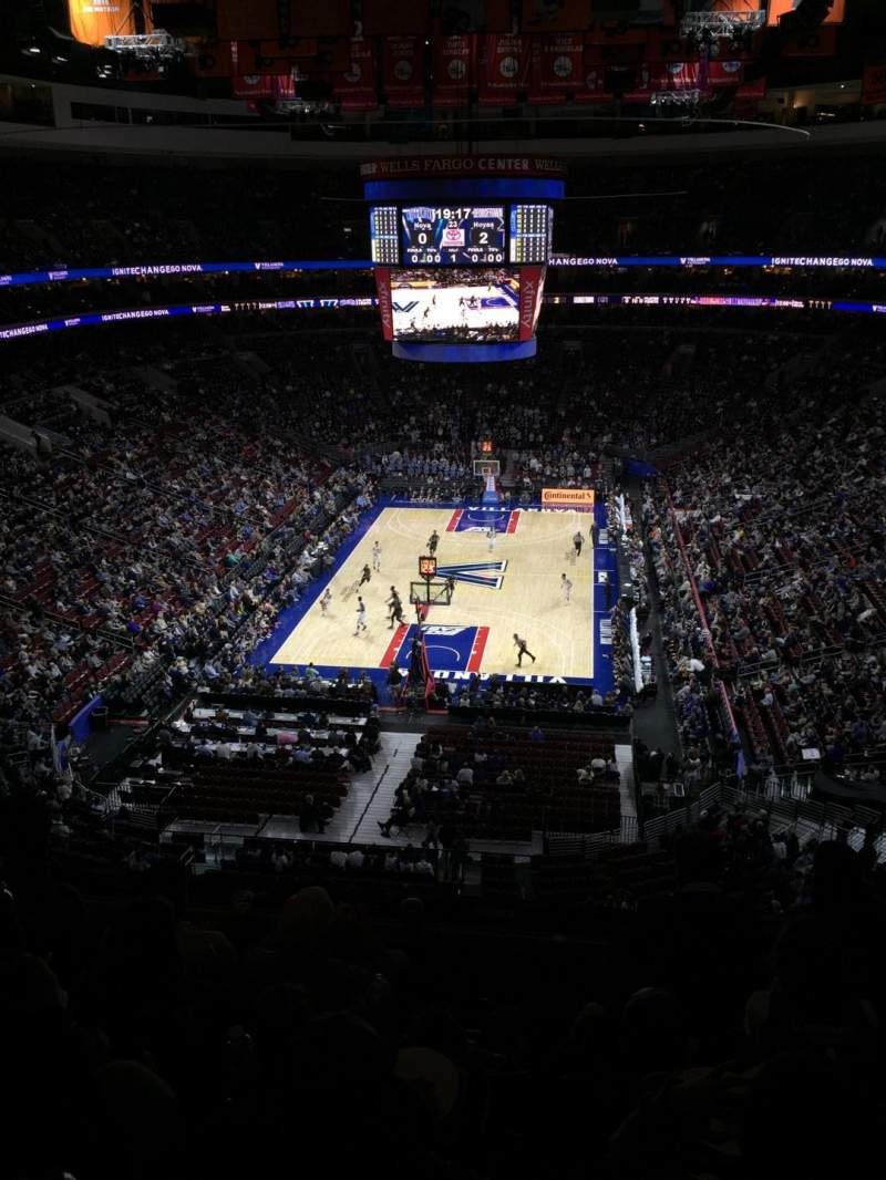 Seating view for Wells Fargo Center Section 219A Row 5 Seat 9