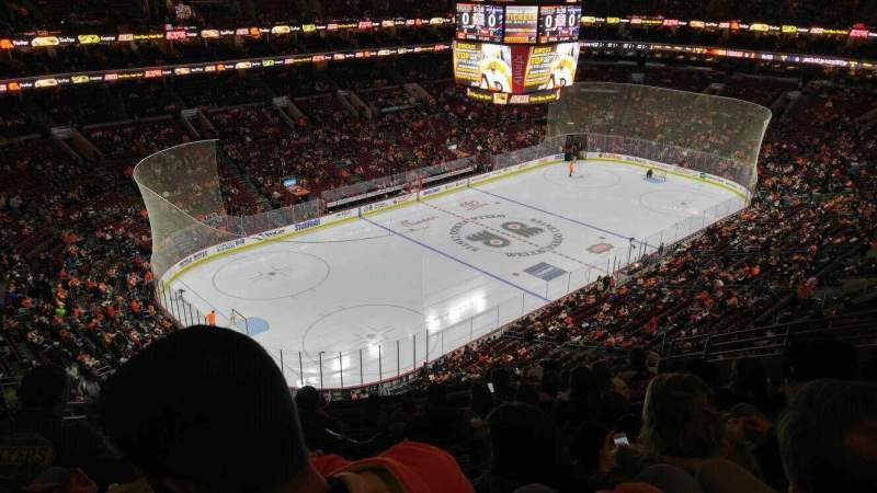 Seating view for Wells Fargo Center Section 210 Row 11 Seat 6