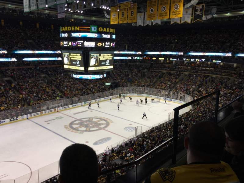 Seating view for TD Garden Section BAL 304 Row 2 Seat 4