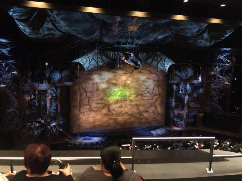 Seating view for Gershwin Theatre Section Front Mezzanine L Row C Seat 1