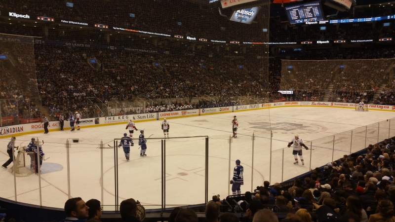 Seating view for Air Canada Centre Section 111 Row 14 Seat 9