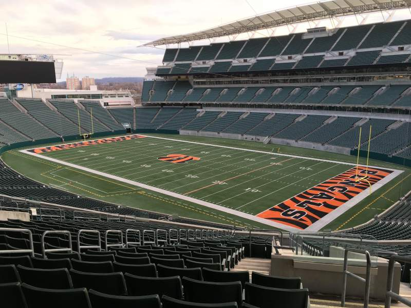 Seating view for Paul Brown Stadium Section 233 Row 24 Seat 1