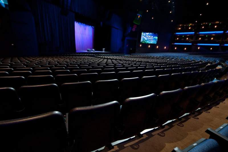 Seating view for Microsoft Theater Section Orchestra Left Row S Seat 512