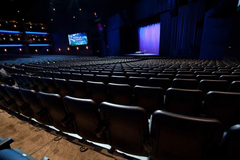 Seating view for Microsoft Theater Section Orchestra Right Row S Seat 112