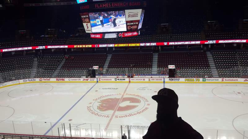 Seating view for Scotiabank Saddledome Section 226 Row 22 Seat 11