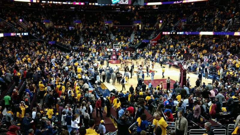 Seating view for Quicken Loans Arena Section 131 Row 14 Seat 11