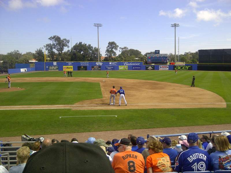 Seating view for Dunedin Stadium Section 202 Row 2 Seat 18