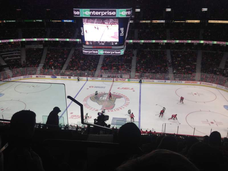 Seating view for Canadian Tire Centre Section 307 Row K Seat 18