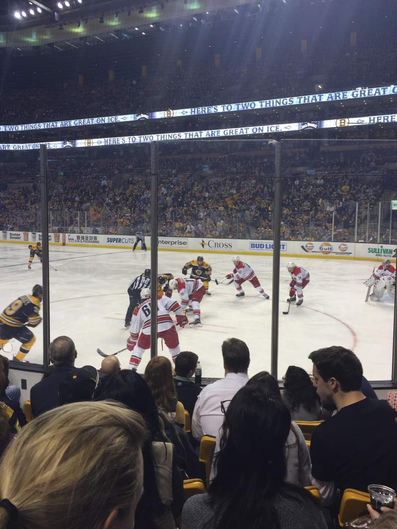 Seating view for TD Garden Section Loge 20 Row 6 Seat 8