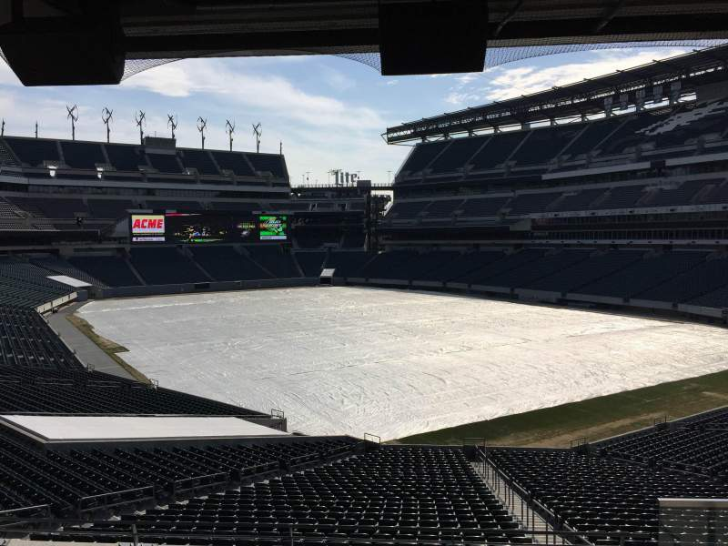 Seating view for Lincoln Financial Field Section Northeast Terrace 1 Row 5 Seat 36