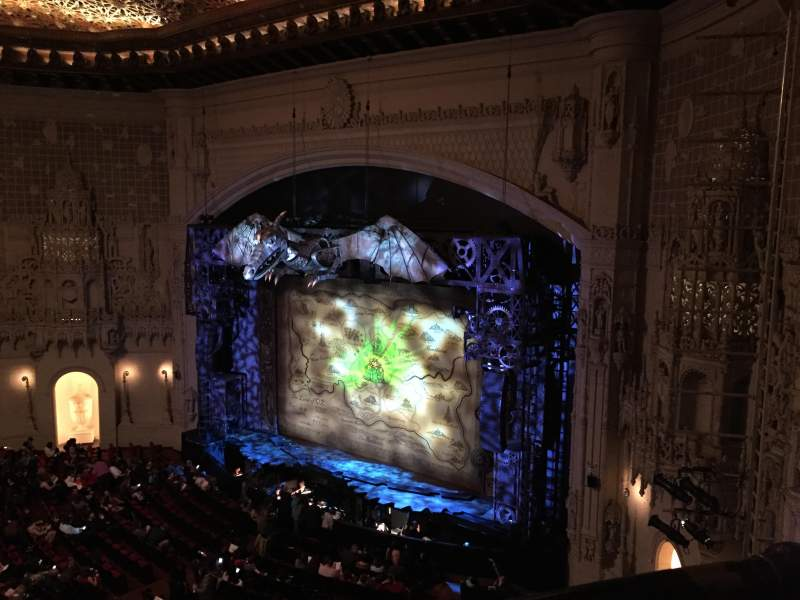 Seating view for Orpheum Theatre (San Francisco) Section Balcony R Row AA Seat 4