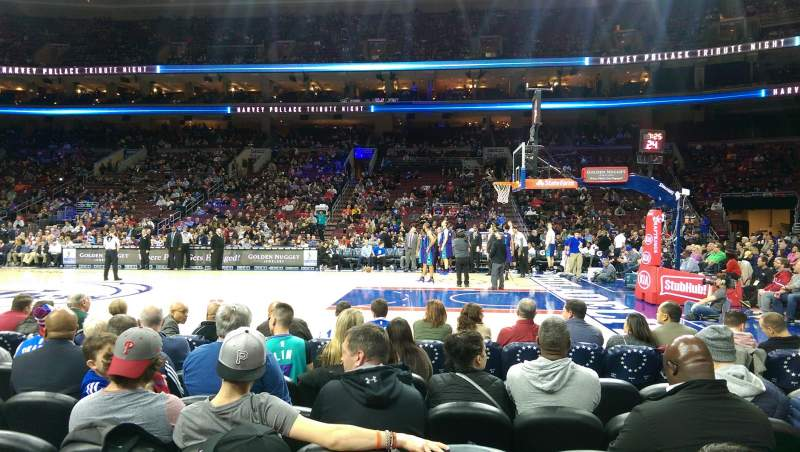 Seating view for Wells Fargo Center Section 114 Row 3 Seat 12
