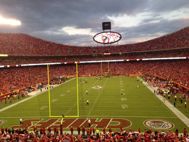 Seating view for Arrowhead Stadium Section 235 Row 1 Seat 8