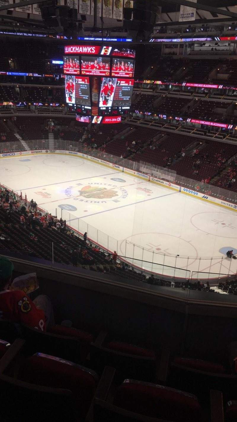 Seating view for United Center Section 330 Row 4 Seat 7