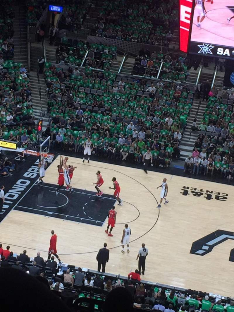 Seating view for AT&T Center Section 208 Row 8 Seat 10