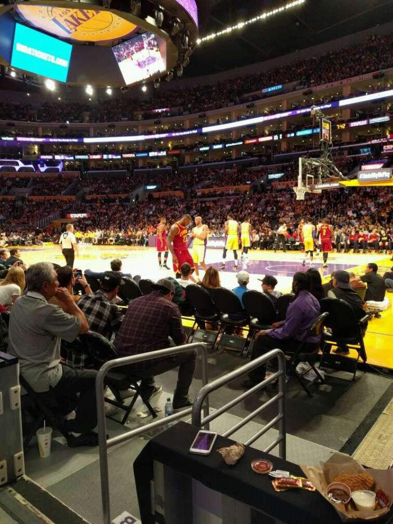 Seating view for Staples Center Section 109 Row 2 Seat 5
