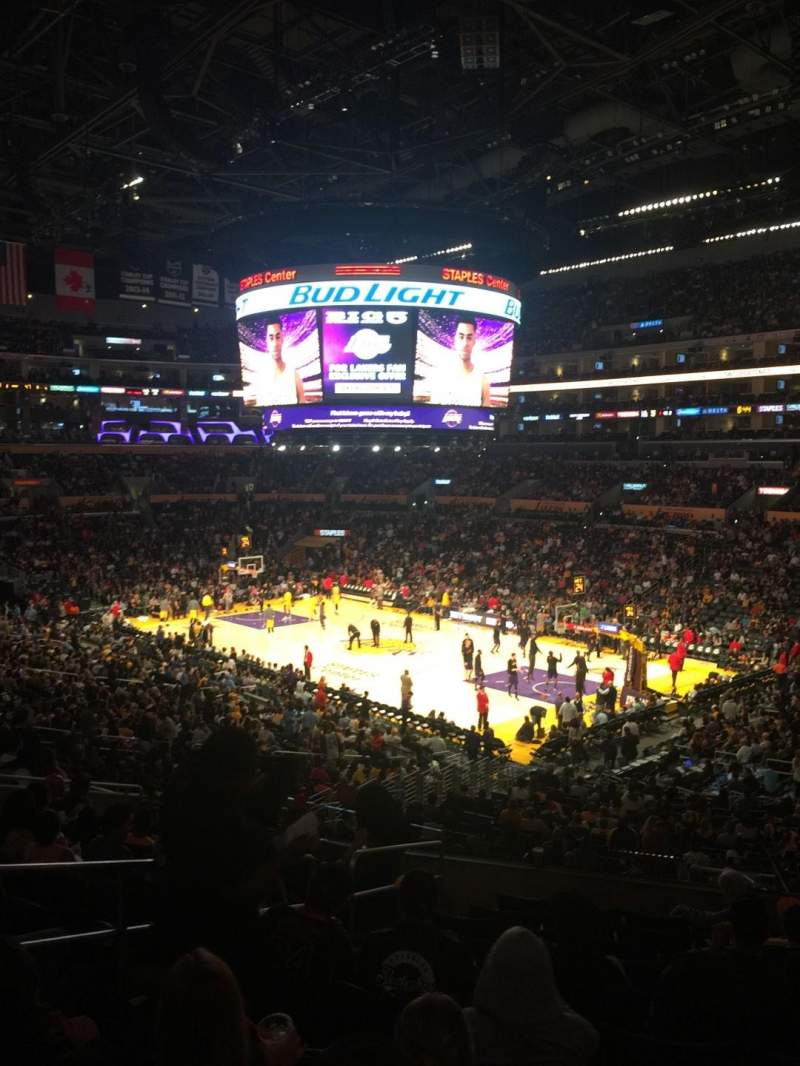 Seating view for Staples Center Section PR10 Row 11 Seat 10