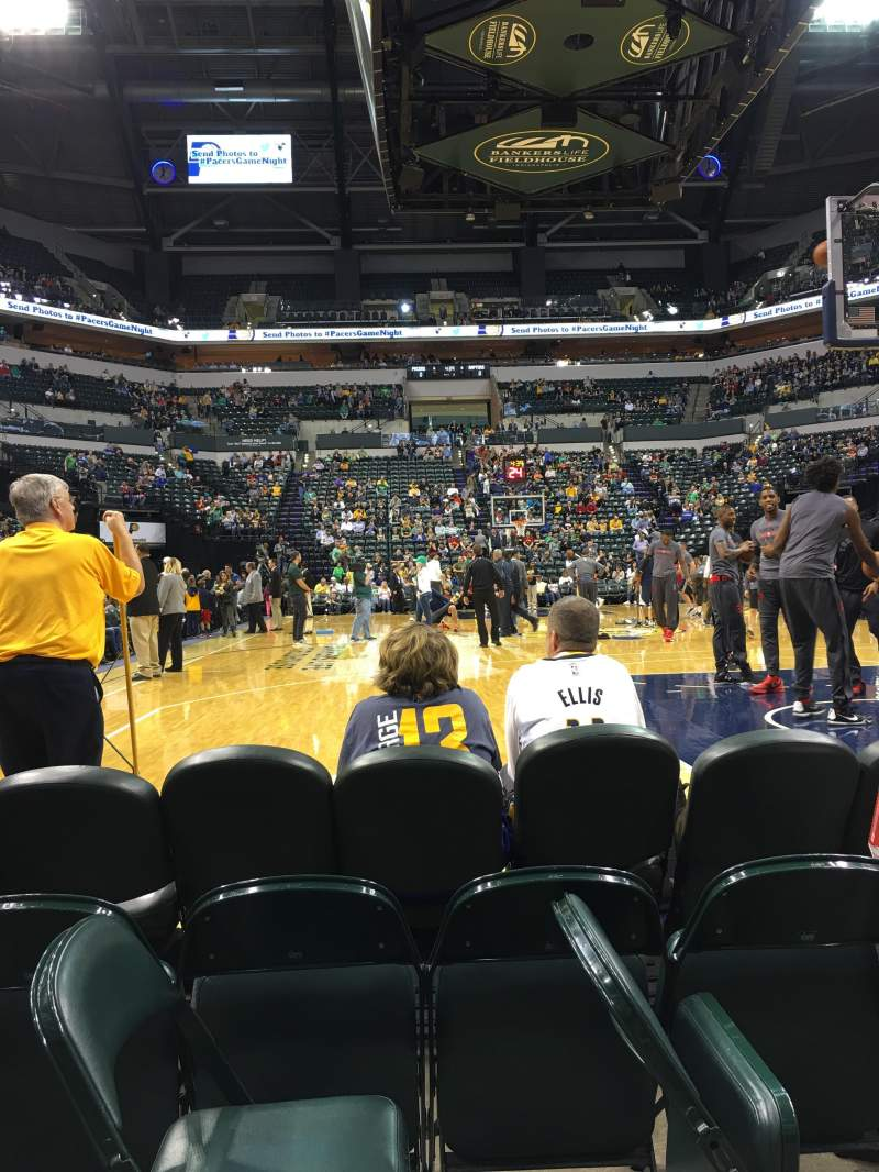 Seating view for Bankers Life Fieldhouse Section 11 Row 2 Seat 21