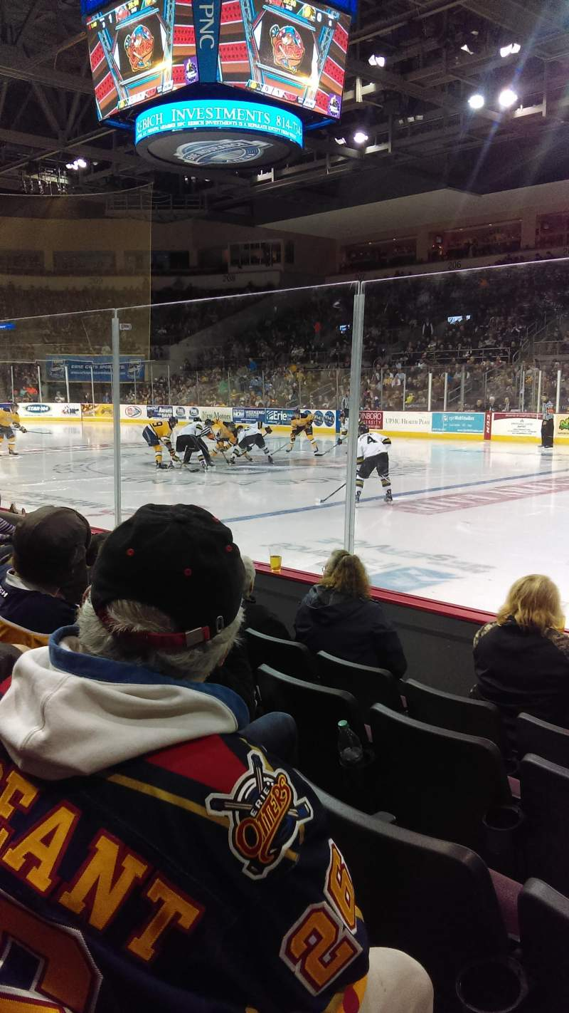 Seating view for Erie Insurance Arena Section 121 Row E Seat 5