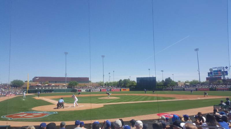 Seating view for Camelback Ranch Section 13 Row 9 Seat 5