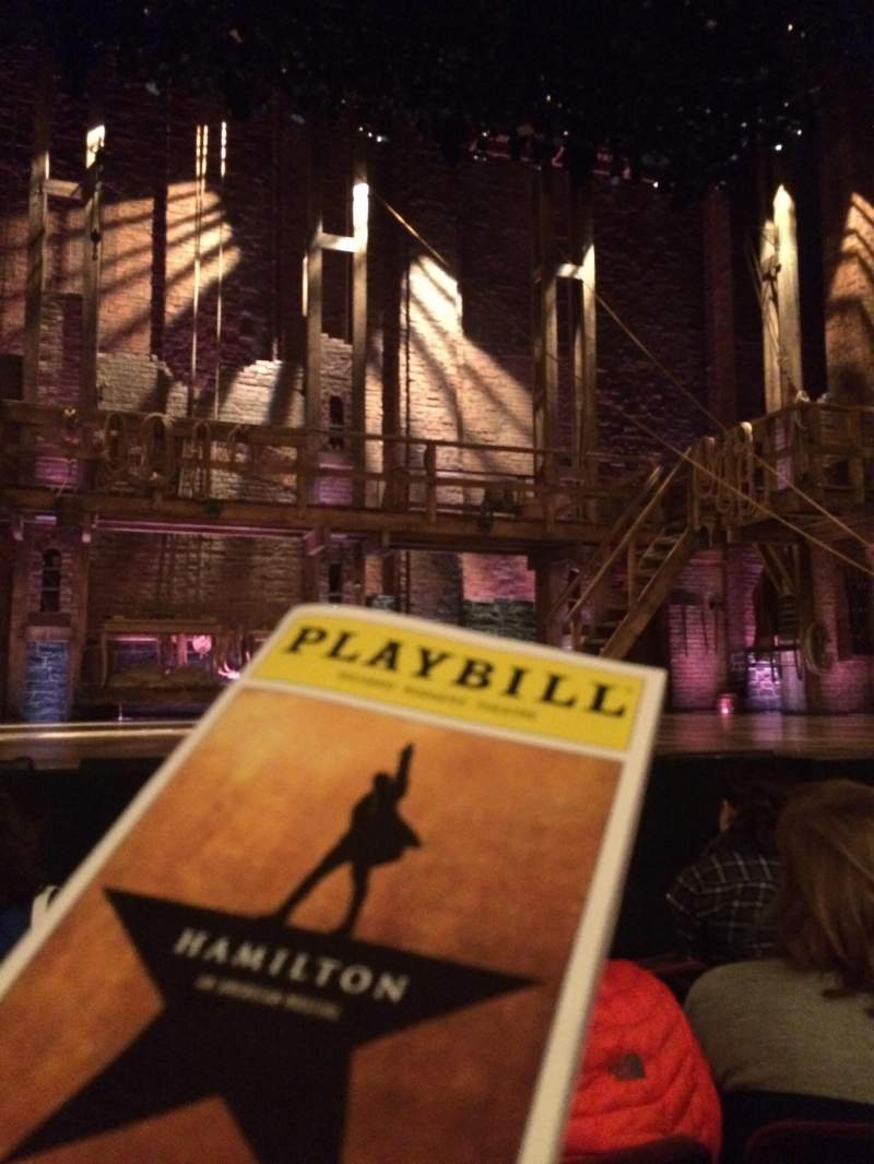 Seating view for Richard Rodgers Theatre Section Orchestra Center Row D Seat 113