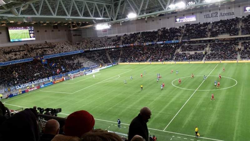 Seating view for Tele2 Arena Section B327 Row 11 Seat 328