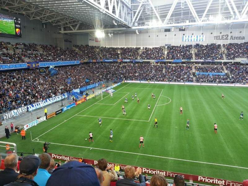 Seating view for Tele2 Arena Section B324 Row 5 Seat 243