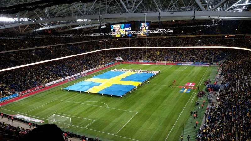 Seating view for Friends Arena Section 324 Vänster Row 17 Seat 256